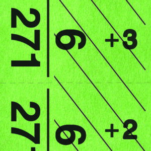Green Giant number strip tag