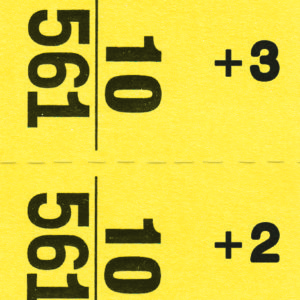 Yellow Giant number strip tag
