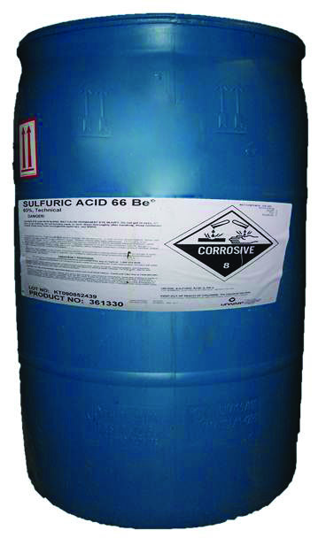 Sulfuric Acid 93 55 Gal Drum Cannot Be Shipped To A